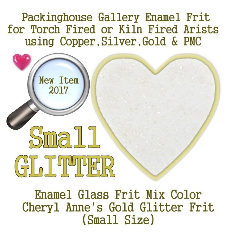 Gold Enamel Glitter Frit, Small Size Frit, Enamel Frit, Glass Frit, for Copper, Gold, Silver, PMC. Thompson Enamel, Packinghouse Gallery